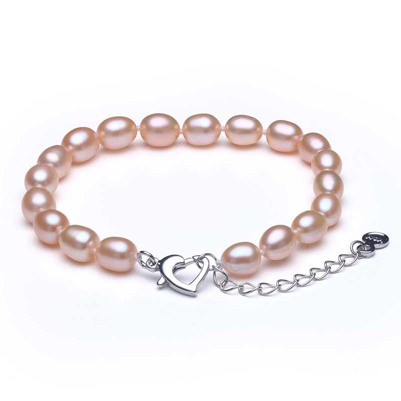2019 Hot 925 Sterling Silver Natural Freshwater Pearl Strand Armband - Fina smycken - Foto 2