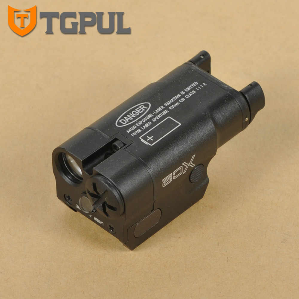 TGPUL XC2 Ultra Compact Pistol Zaklamp Constante/Momentary/Red Dot Laser Licht LED Wit Licht 200 Lumen Airsoft