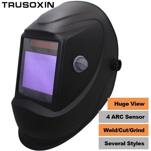 Máscara de Soldagem Grande Vista Eara Arco Sensor Din5-din13 Solar Escurecimento Automático Tig Mig Mma Moagem – Capacete Soldador Boné Óculos 4 Mod. 194751