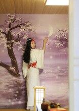 Autumn and Winter Thickening Home Wind White Net Version Exotic Kimono Bathrobe стоимость