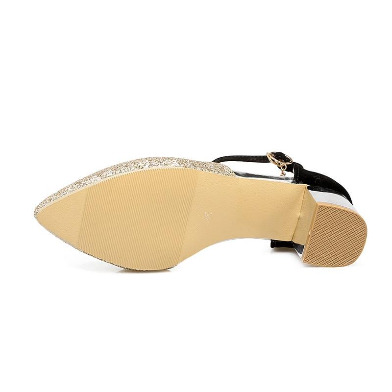 silver pink Zapatos 33 De 43 Mujeres Talones Oro Tacones 2018 Gran Gold 5 Tamaño Otoño Bombas Plata Cm w7aT7x