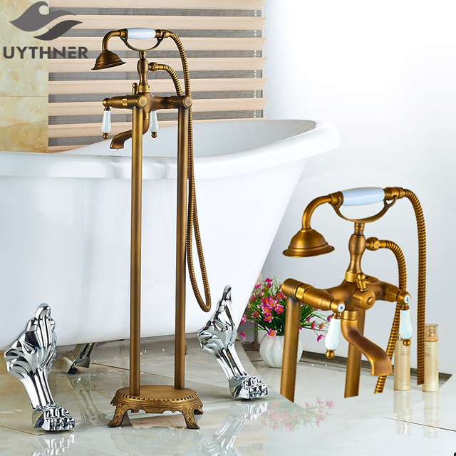 Aliexpress.com : Buy Uythner the New Antique Brass Bathtub Faucet ...