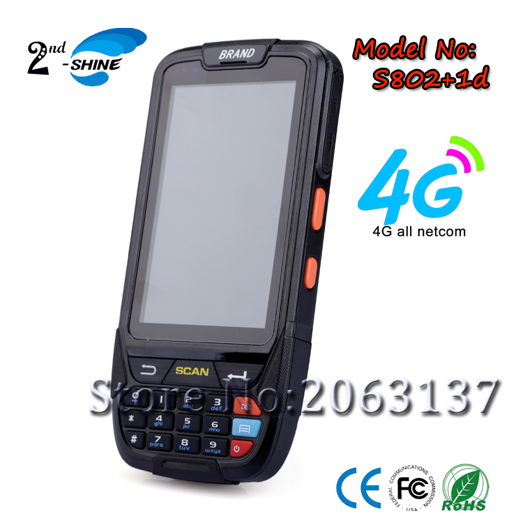 4G Full Netcom Wireless Handheld 1D Barcode Scanner Industrial PDA with Android 5.1,4.0 inch Display,Gps,Bt4.0, Wifi