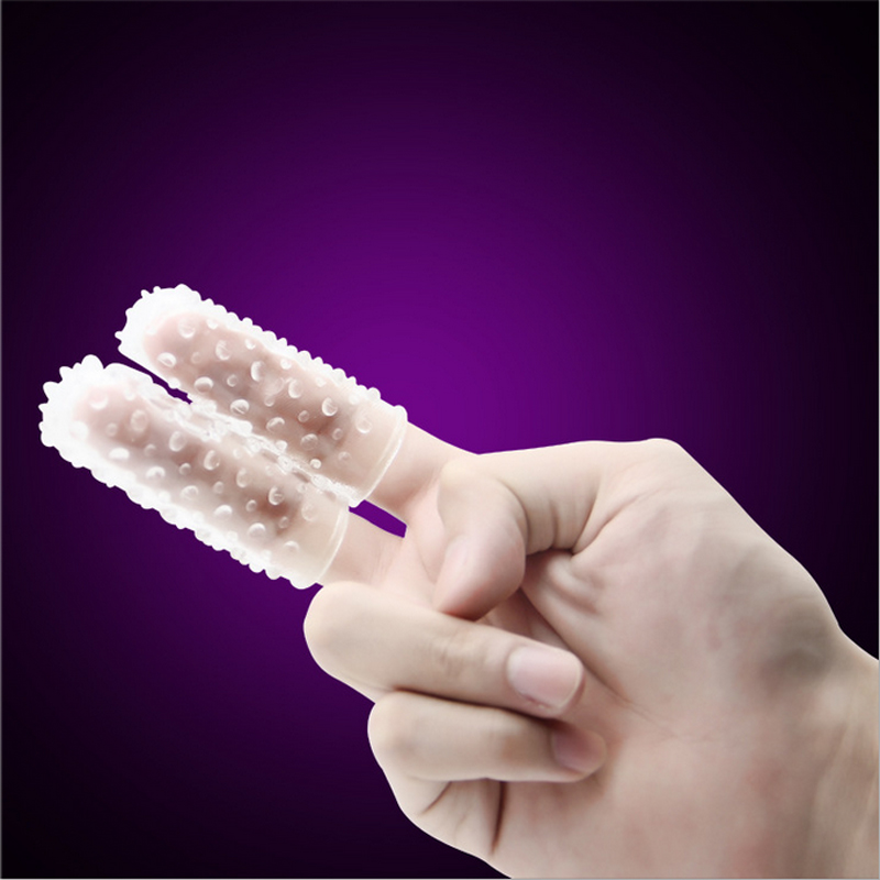 Squirt Massage two Fingercots Glove Protect Female thorn crystal Finger protection G Spot Se Toys