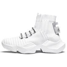 High Top Mens Flyknit Gym Sports Running Sock Shoes Sneakers For Men Trekking Jogging Man