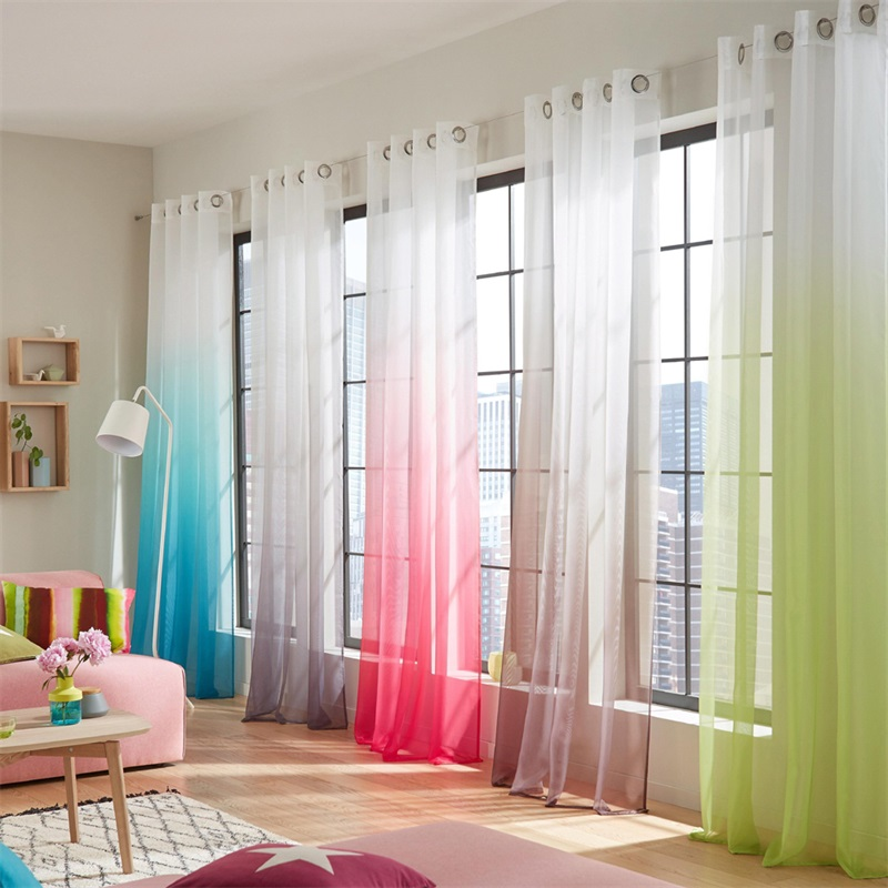 Tiyana Wedding Home Decor Ready Made Curtains Tulle For Living Room Bedroom Balcony Kitchen String Curtain French Cortinas 185#3