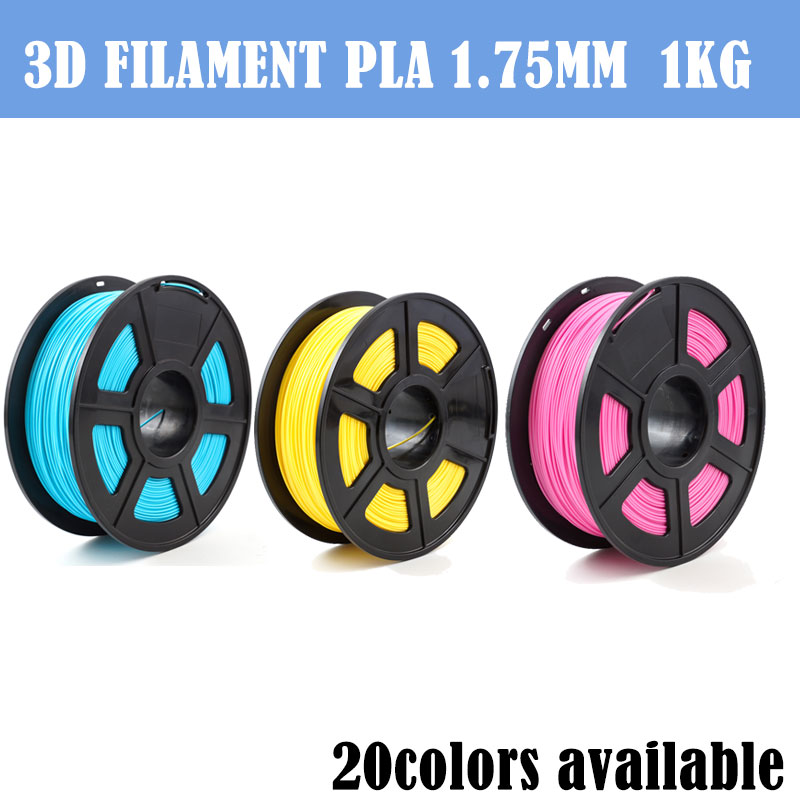 Top Quality 3D Printer Filaments 3D Printer Plastic 1.75mm PLA 1kg/Roll 3D Printing Material 340M Dimensional Accuracy+/0.02mm
