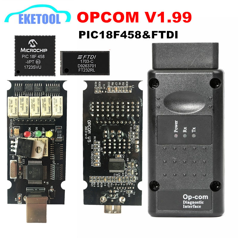 Neueste OPCOM V1.99 V1.95 V1.78 V1.70 V1.65 V1.65 Firmware PIC18F458 & FTDI Chip OP COM 1,95 KÖNNEN-BUS Scan OP-COM Freies Verschiffen