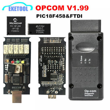 Newest OPCOM V1.99 V1.95 V1.78 V1.70 V1.65 V1.65 Firmware PIC18F458&FTDI Chip OP COM 1.95 CAN-BUS Scan OP-COM Free Shipping фото