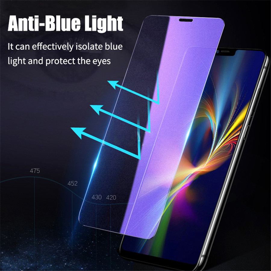 New 2.5D 9H Anti Blue Ray Light Tempered Glass For IPhone X XS MAX XR 11 Pro Max 2019 Eyes Care Transparent Screen Protector