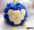 Artificial Sweetheart BLUELOVER Wedding Bouquets Handmade Rose Blue Enchantress Heart-shaped Bridal Bouquets Highly Recommend!!