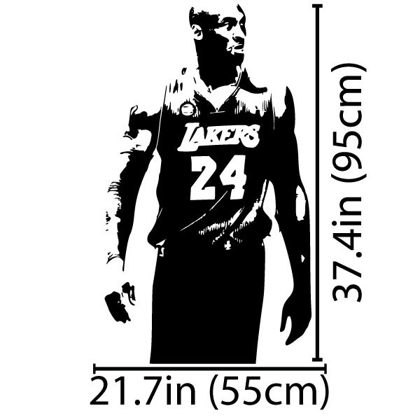 Lakers kobe bryant wall art sticker nba basketball poster graphic decal decor school dorm living room bedroom home mural stencil in wall stickers from home