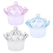 12Pcs Transparent Crown Shaped Candy Boxes Sweet Plastic Case Storage Container Colorful Party Wedding Supply Box