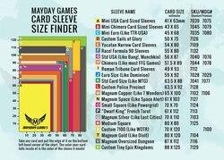 Manga protetora de jogos de cartas link-mayday, manga de proteção para jogos de tabuleiro, munchkin mtg 41 45 56 59 63, 100 68 87 88 92