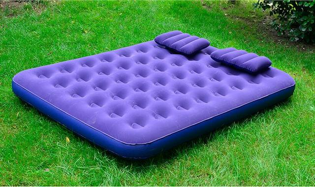 large size double inflatable mattress inflated sofa bed flocking bed