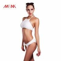 2016 Vintage High Neck Sexy Bathing Suit Bikini White Swimsuit Bikini Set Swimwear Biquini Maillot De