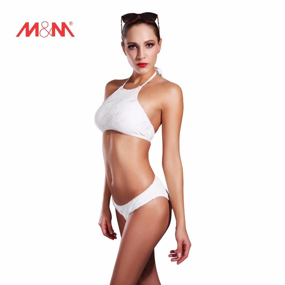 2016 Vintage High Neck Sexy Bathing Suit Bikini White Swimsuit Bikini Set Swimwear Biquini Maillot De Bain SAKJ1621BAS  2016 new striped sexy bathing suit bikini high neck halter swimwear bikini set biquini maillot de bain swimsuit sakj1613