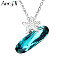 ANNGILL Newest Arrival Luxury 100 Crystals From Swarovsk Star Necklace Pendants For Women Fashion Jewelry Brand