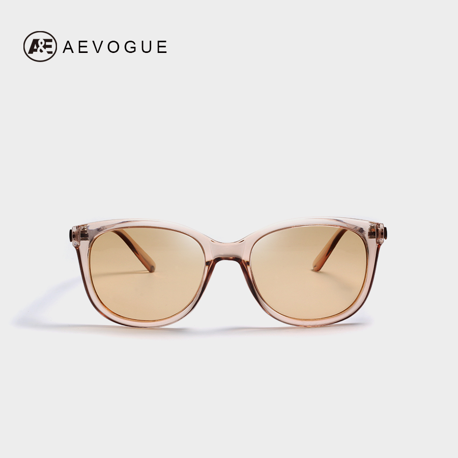 AEVOGUE Polarized Sunglasses Women 2019 Popupar Transparent Frame Cat Eye Sun Glasses Vintage Oculos Ladies UV400 AE0654