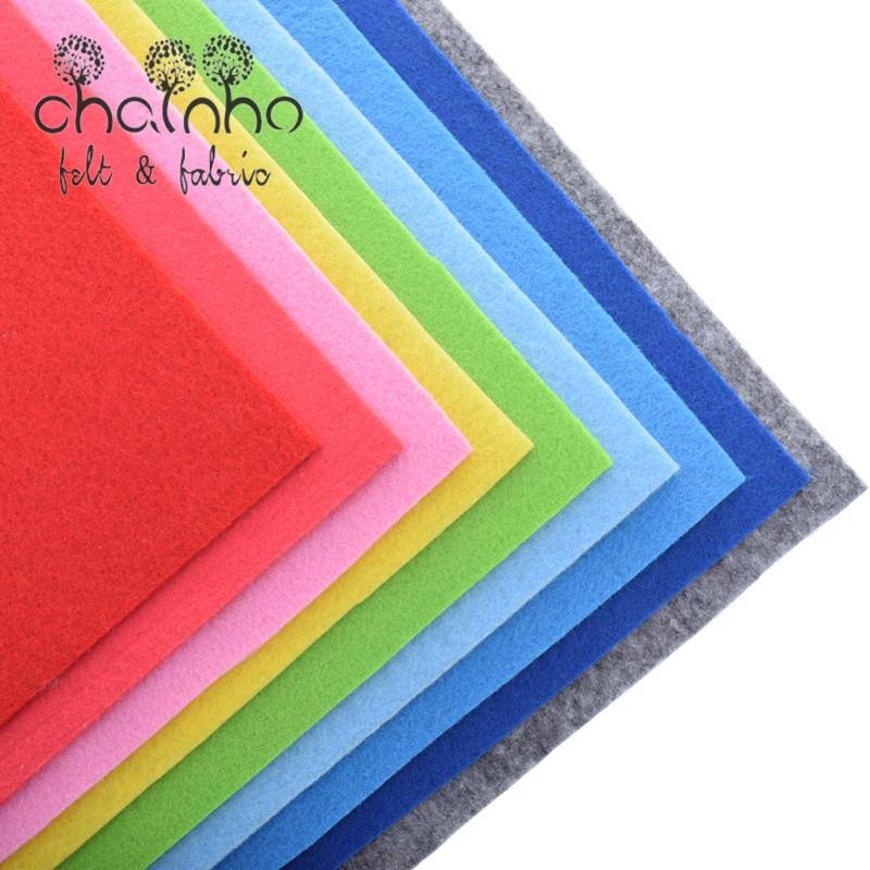 Felt Fabric 30x30cm/Nonwoven Fabric 2mm Thickness/Polyester Felt Of Home Decoration Pattern Bundle For Sewing Dolls Crafts 9pcs