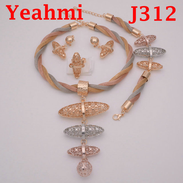 db4e6bf7ddec38 nigerian African jewelry set wedding jewelry sets for brides crystal dubai  gold jewellery sets for women engagement party J312