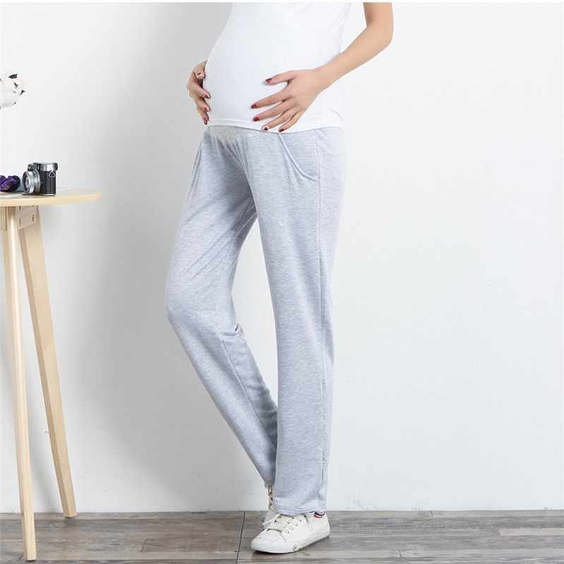766a2d43fe379 Adjustable Belly Support Maternity Pants Casual Trousers For Pregnant Women  Clothing Modal Sport Pregnancy Clothes Loose