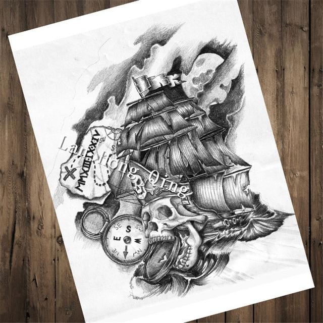 Venta caliente vintage peluquería tatuajes papel Kraft \