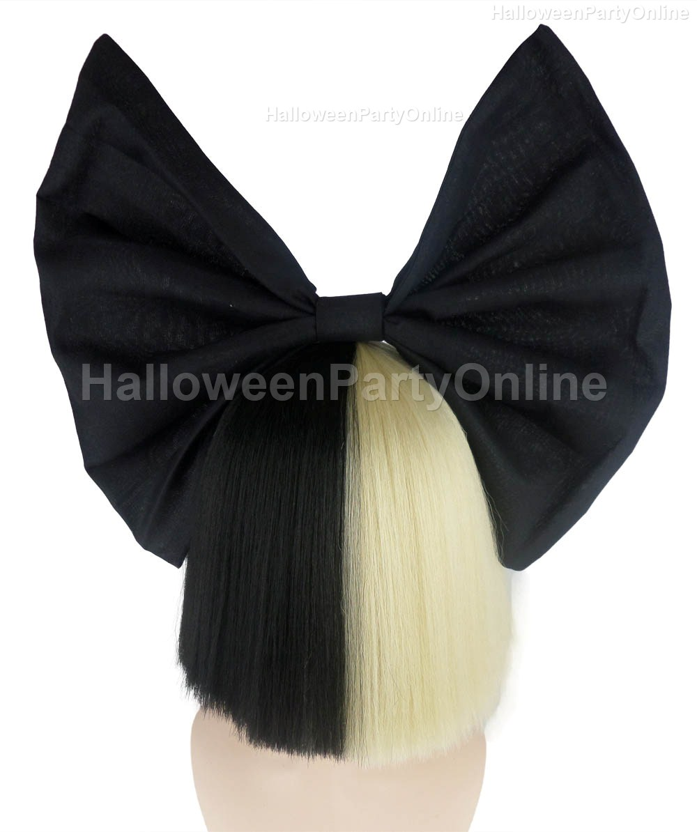 Halloween Party Online SIA Black & Blonde Shy Wig Black Bow ...