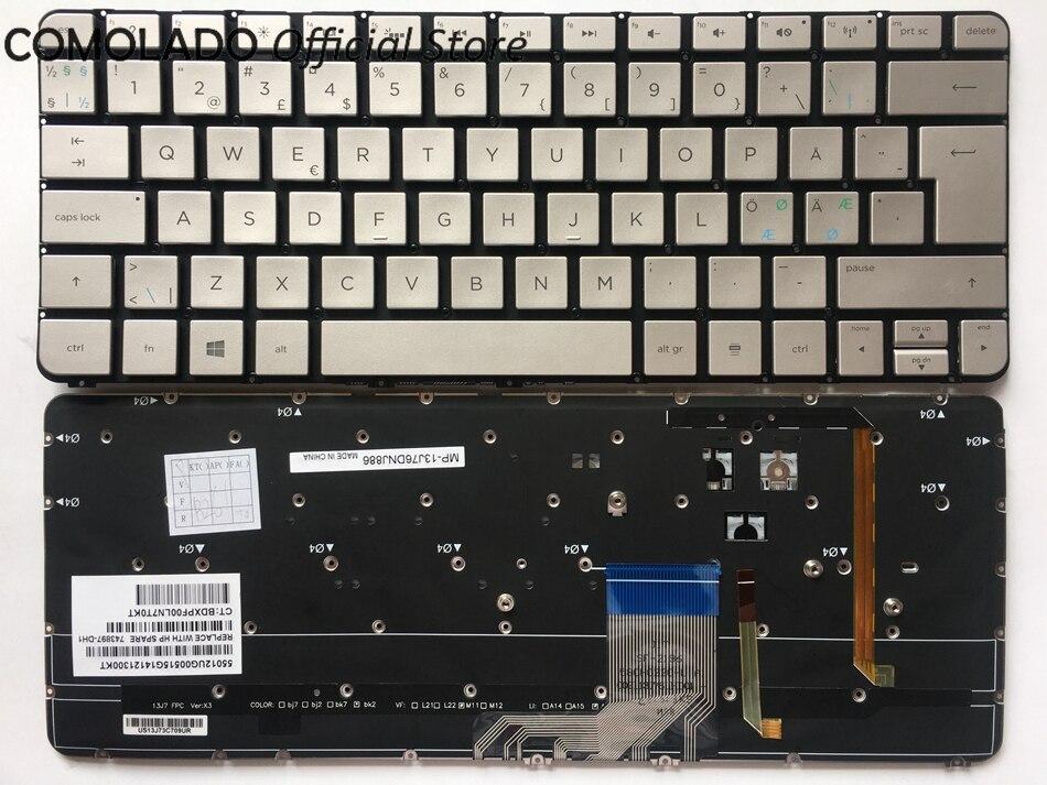 ND Nordic Keyboard for HP Spectre 13-3000 13-3000ea 13-3000ed 13-3000ee 13-3000er 743897-DH1 Backlit Laptop keyboard NORDIC