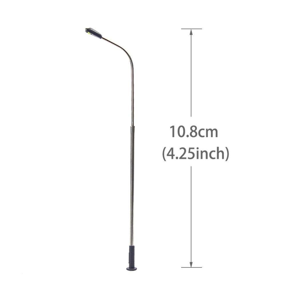 10pcs Model Railway LED Lamp post Lamp Street Lights HO OO Scale 13cm