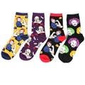 Pure Cotton Creative Portraits Jacquard Socks Candy Colored Socks