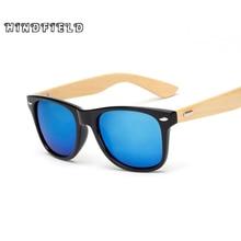 Hindfield Diseño de Cortinas De Bambú de Madera Gafas de Sol Hombres Mujeres Marca gafas de Sol Gafas de Sol Masculino 2017 Gafas Gafas de Espejo de Oro