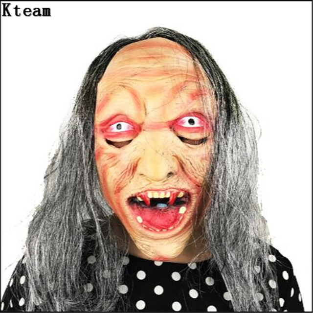 Realistic Scary Halloween Masks.Us 15 97 6 Off Hot Scary Halloween Mask Long Hair Ghost Scary Mask Props Grudge Ghost Hedging Zombie Mask Realistic Silicone Masks Masquerade In