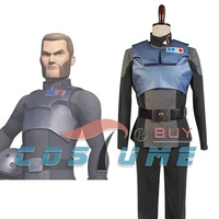 Rebels Agent Kallus Adult Uniform Top Pants Belts Outfit For Men Halloween Carnival Cosplay Costume