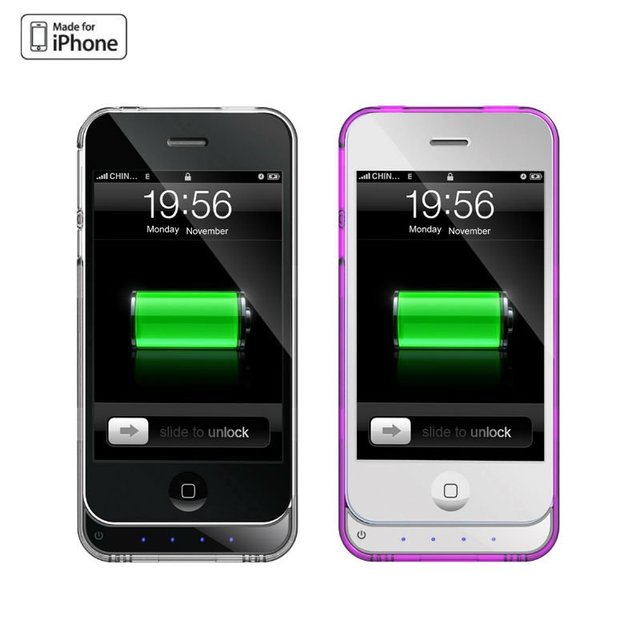 Portable external backup battery power for iPhone