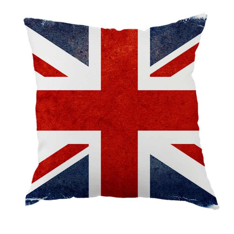 البريطانية نمط المنزل الديكور رمي سادة القضية خمر القطن الكتان ساحة لطيف المخدة