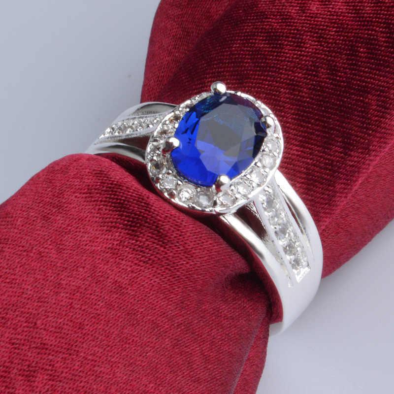 อินเทรนด์สีสำหรับผู้หญิงแหวนหิน Zirconia แหวนเลดี้หญิง Multicolor เครื่องประดับของขวัญวันวาเลนไทน์