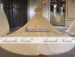 Image 4 - Роскошное бальное платье с открытыми плечами, свадебное платье, Аманда новиас, 2020