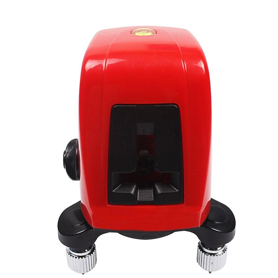 Verticale Laser Croce Rossa Livelli di 360 grado di auto-livellamento Croce Level Laser 1V1H Rosso 2 linea 1 punto Rotante orizzontale