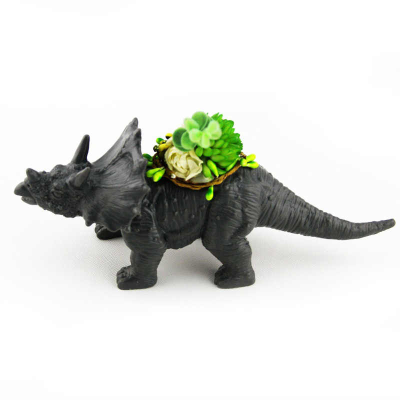 4 Type Plastic Dinosaur Animal Garden Decoration Flower Pot for Cactus Succulent Plant Pot Flower Bonsai Pots Container Planter