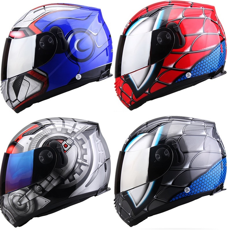 Motorcycle Helmet Full Face Helmet Spider Man Helmet Godzilla Helmet Many Colors Available helmet trespass helmet