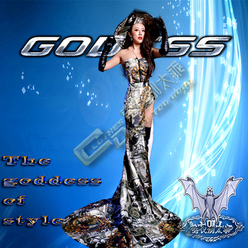 Sell like hot cakes   Female Singer Dj Personality vintage  Party Dress   The Nightclub Stage Loading    Party Dress