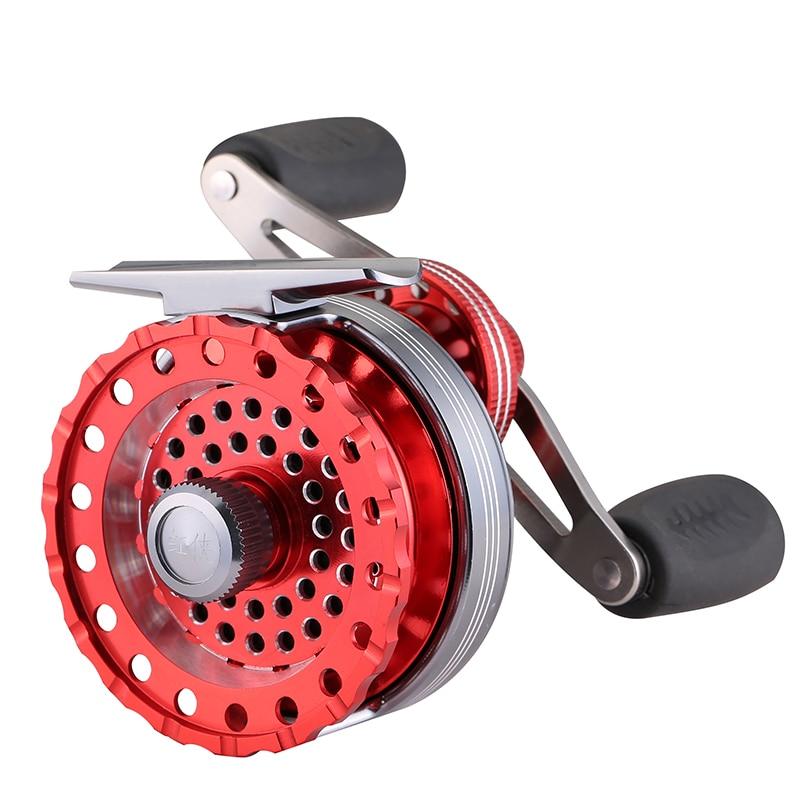 DIAOLELAI 6+1 Ball Bearing 2.6:1 Gear Ratio All Metal Former Raft Fishing Reel Fly Reel Wheel Ice Fishing Reel Fishing Tackles