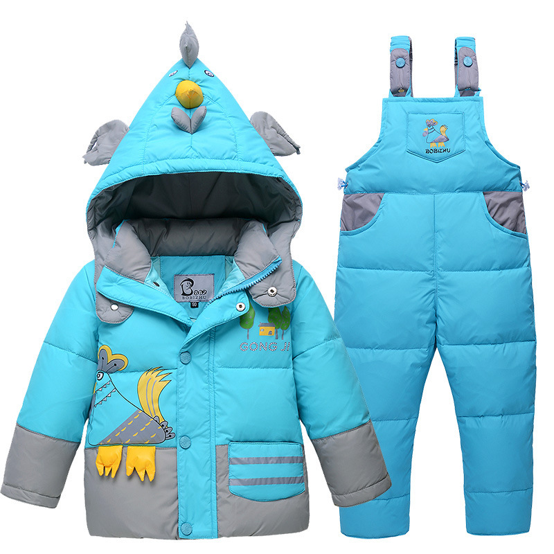 New Winter Children clothing Duck Down Jacket Set Pants-Jacket Clothing Girls Baby Coat thickening warm baby Jacket suit winter children baby down jacket set long sleeve down coat pants set boys girls baby winter warm coat trouser suit