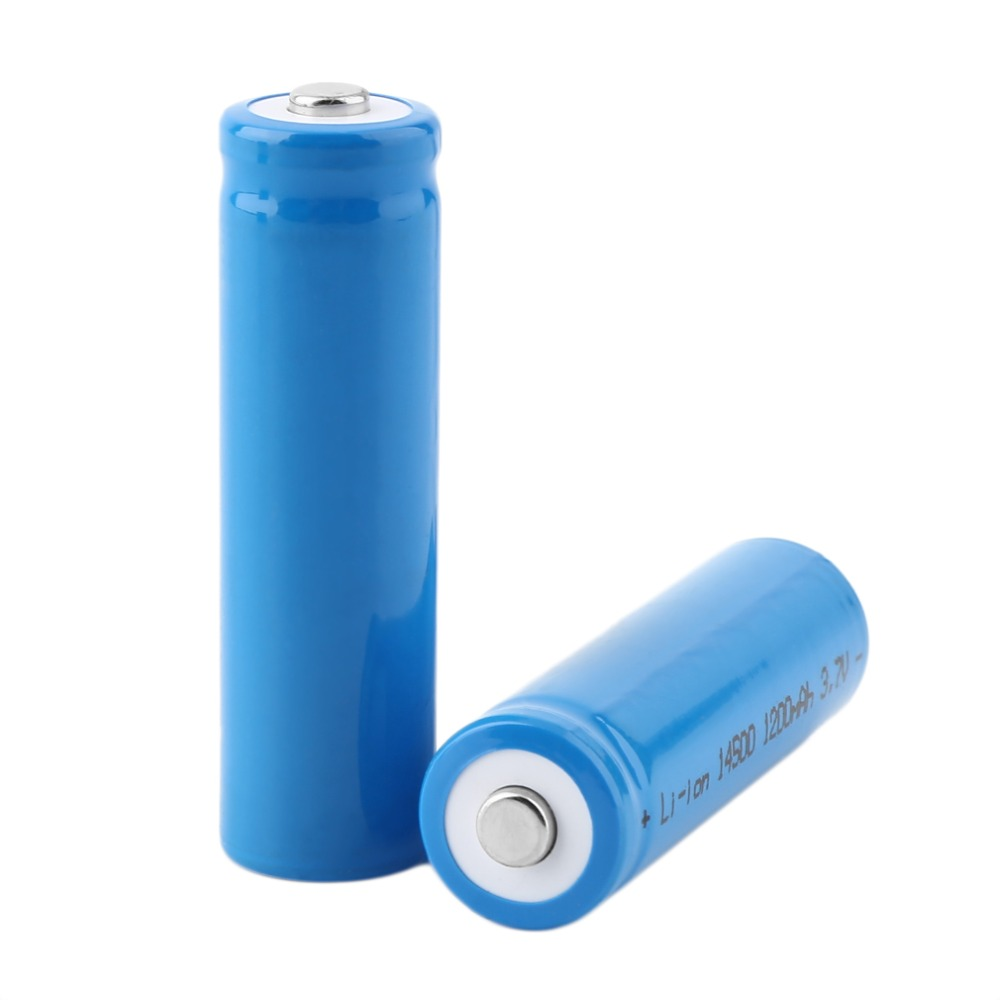 New 10pcs X 3.7V 1200mAh 14500 battery AA Li-ion Lithium Rechargeable Battery replacement batteries wholesale
