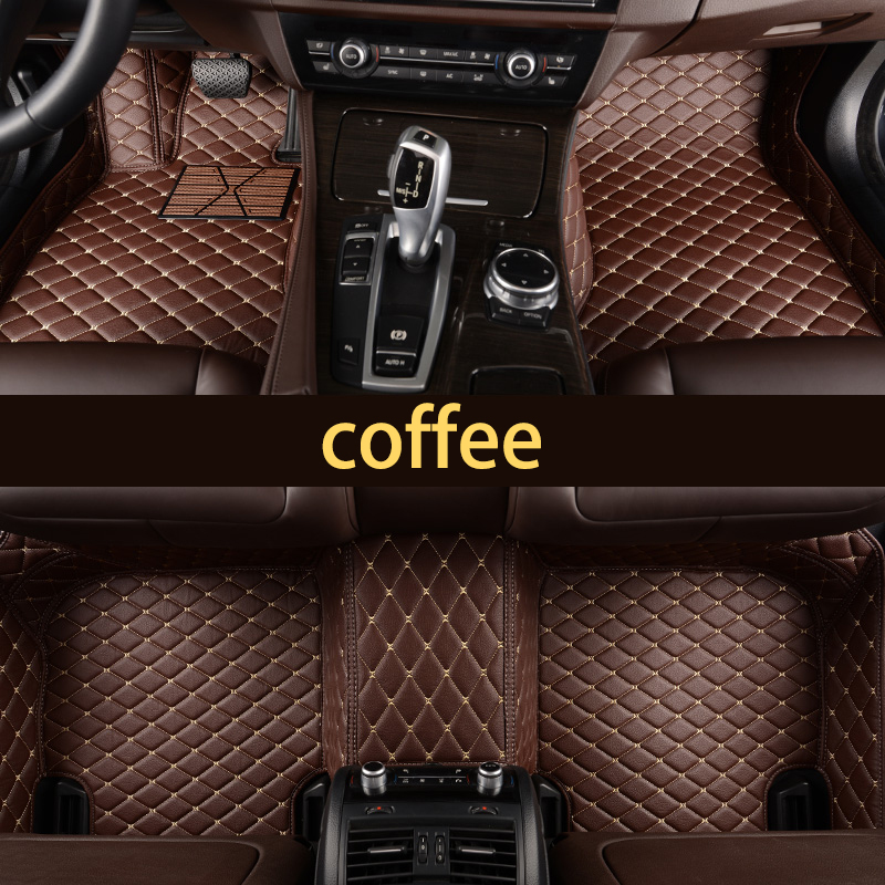 lsrtw2017 leather car floor mat for bmw X5 X6 F15 F16 E90 E91 E53 G5G6 X5M F85 rug carpet interior styling 1999 2020 in Floor Mats from Automobiles Motorcycles