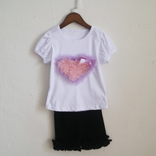 hallaween lovely style heart girls tee font b shirt b font and ruched legging panties font