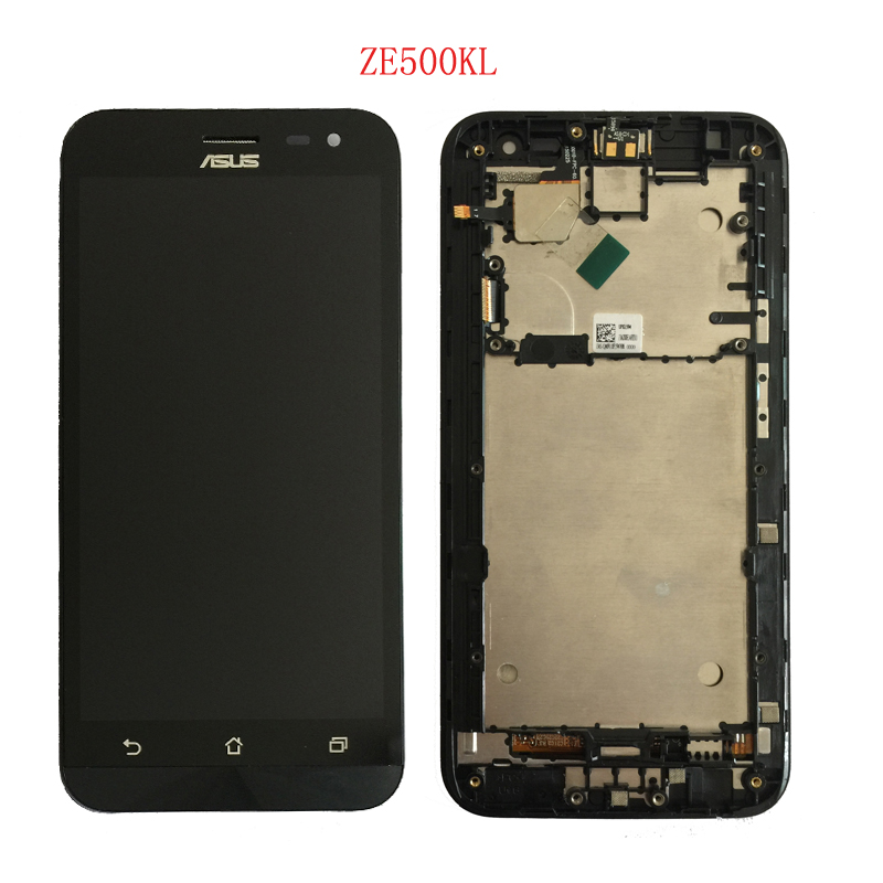 100% di Prova Originale Per ASUS Zenfone 2 Laser ZE550KL ZE500KL Z00LD Display Lcd con Touch Digitizer Assembly Con telaio 1 pezzo