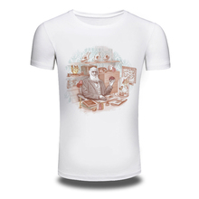 DY 166 Free Shipping Summer Short Sleeve Hot T Shirts Hiphop Mens White Cotton Tee Shirt