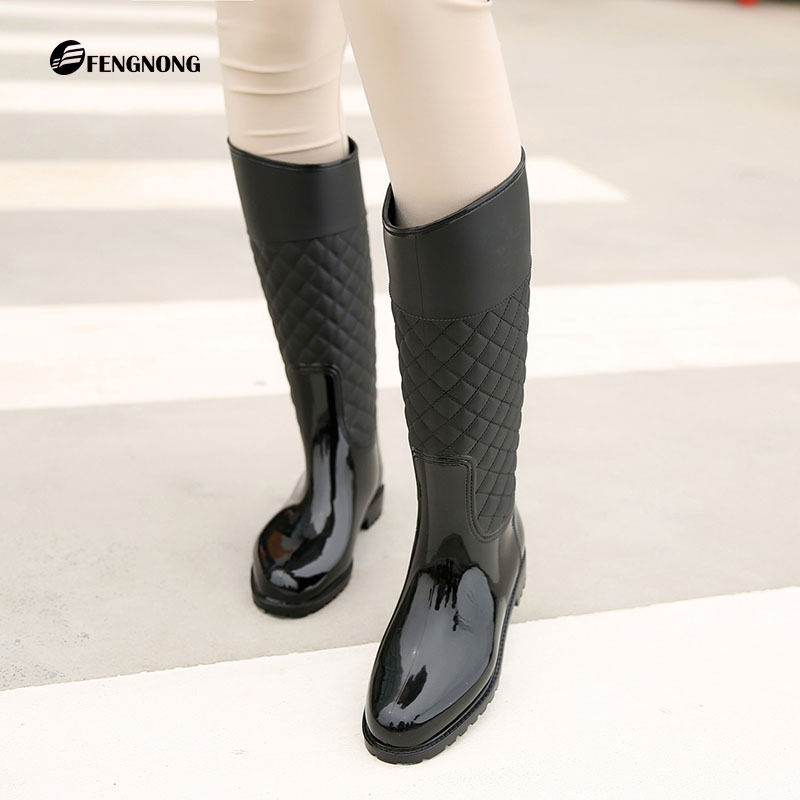 9ff789317 Detail Feedback Questions about Women knee high Boots Waterproof Rubber  Women Rain Boots Casual Ladies Hunter Boots Shoes Winter on Aliexpress.com  | alibaba ...